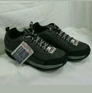 Skechers Shapeups Mens 12 XT Leather CCBK Charcoal